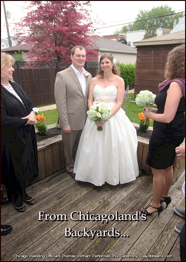 Backyard Wedding Ceremony