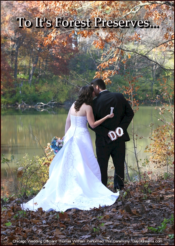 Forest Preserve Wedding Ceremony