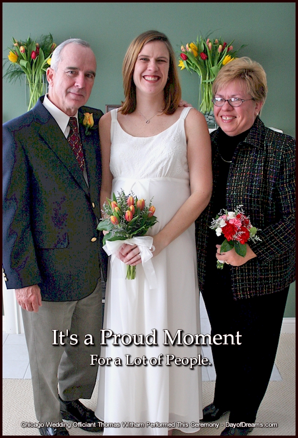 Parents with a bride