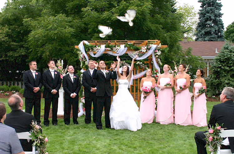 Wedding Ceremony Dove Release