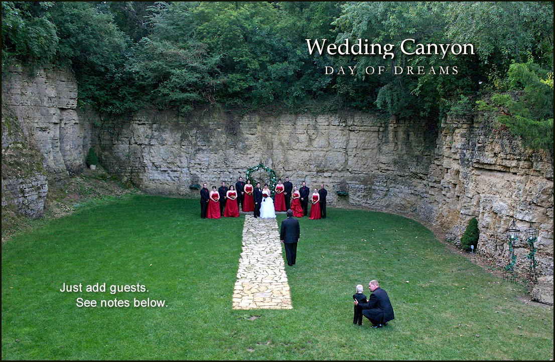 Wedding Canyon at White Pines Inn Oregon Illinois